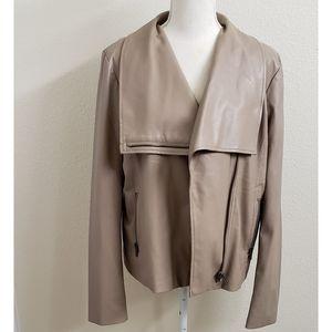 BB Dakota Tan/Taupe Faux Leather Jacket NWOT